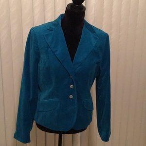 Dressy Velveteen Jacket- Rhinestone Buttons